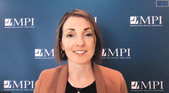 移民政策研究所政策分析師皮爾斯(Sarah Pierce)。記者彭詩喬截屏
