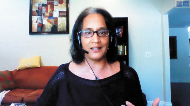 移民律師Kalpana Peddibhotla。記者彭詩喬截屏