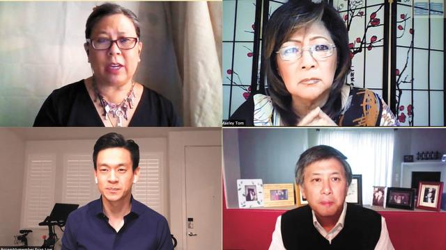 加州華裔官員談亞裔從政。記者彭詩喬截屏