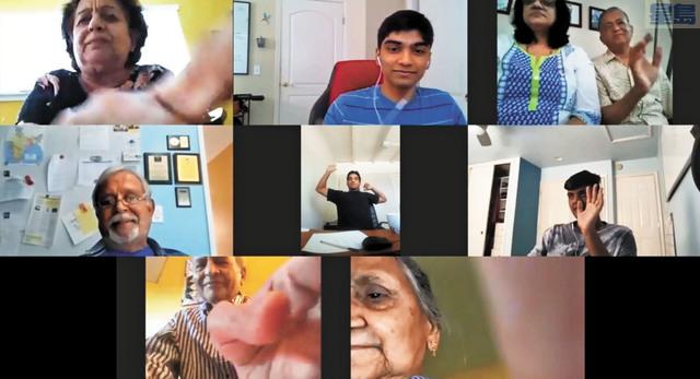 高中生們發起和老人院連線,傳達社區關懷。COVID Networks提供