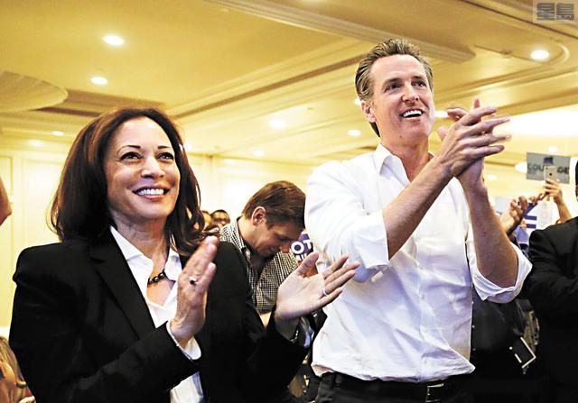 如果聯邦參議員賀錦麗當選副總統,加州州長紐森將要挑選合適人選接替賀錦麗。美聯社資料圖片