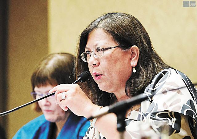加州主計長余淑婷也被《紀事報》提及有可能獲紐森選中。美聯社資料圖片