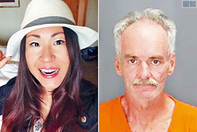 ■當局相信華裔女撲克手趙茜被殺前曾被嫌犯莫里斯(右)性侵,而且是被活活燒死,並非像最初推測般死後遭人焚屍。 網上圖片