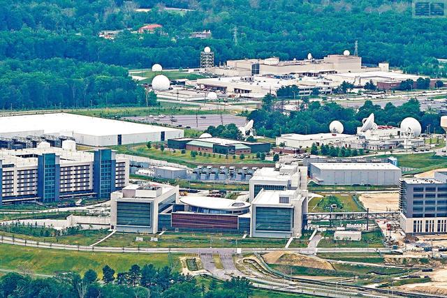 ■圖為位於馬里蘭州米德堡國家安全局園區內的美國網戰司令部大樓 (USCYBERCOM) 。    路透社