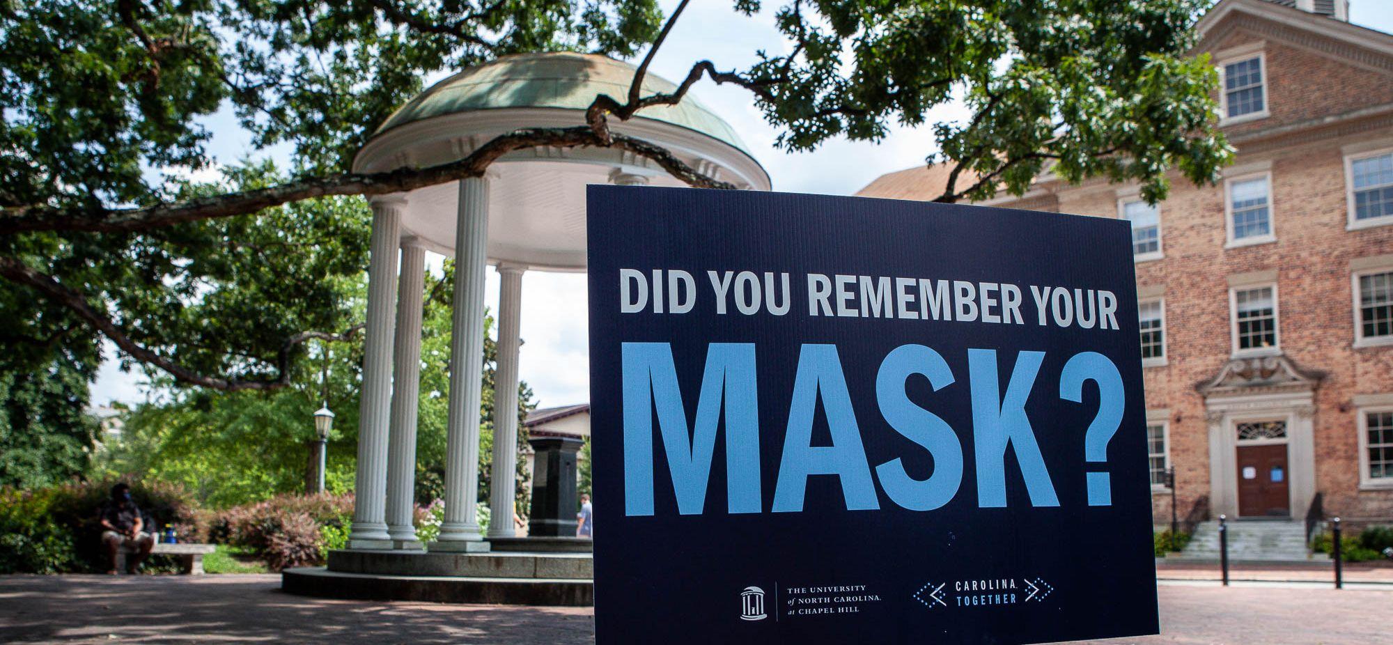北卡羅萊納大學教堂山分校在開學幾周後,因病毒疫情嚴重,已重新恢復在線教學。    Chapelboro圖片
