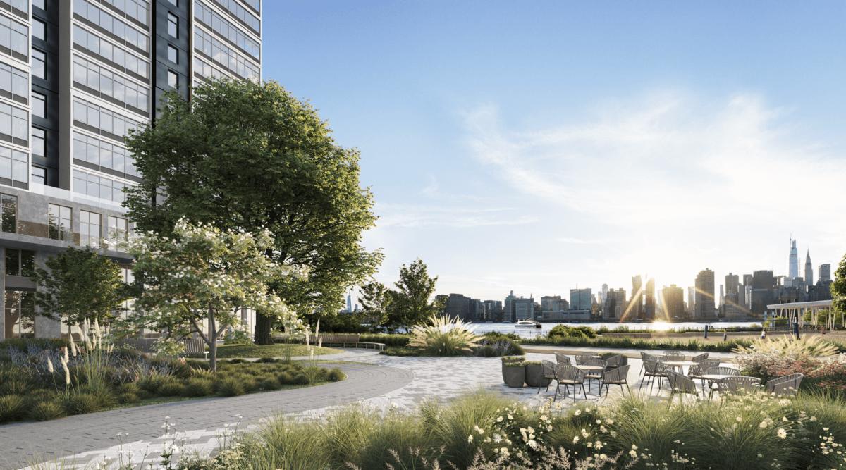 ■長島市亨特南點土地開發打造綜合商住新 社區共1,194高級出租公 寓單位,分兩期發展,首期南座預留185套平價房屋公開申請。
