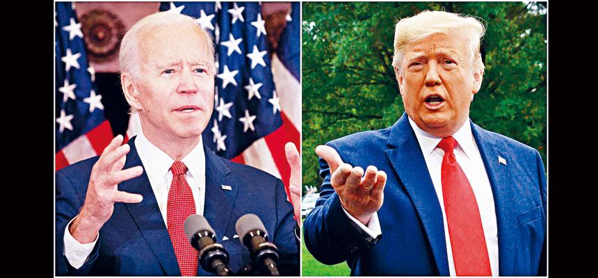 總統特朗普和民主黨總統候選人拜登,即將在下周二舉行的首場大選辯論中當面唇槍舌劍。   合併圖片