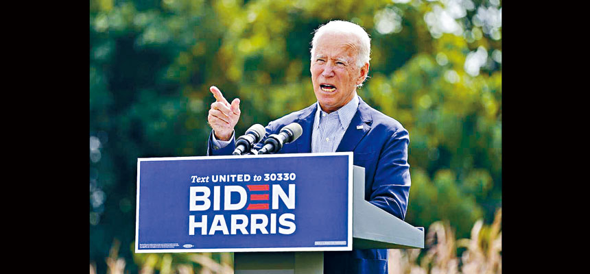 民主黨總統候選人拜登籌組法律團隊,準備處理11月大選時可能出現的糾紛。 美聯社