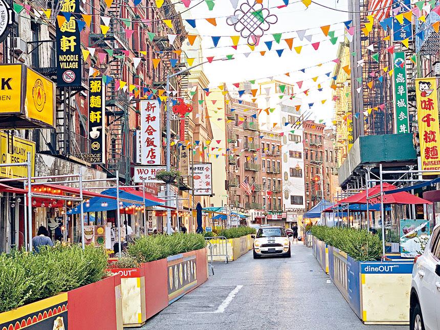 紐約市將延長「開放餐廳」計劃,戶外用餐可全年進行。資料圖片