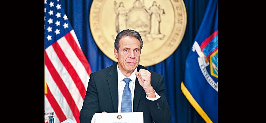 柯謨再次呼籲紐約人要嚴守新冠安全守則。州長辦公室Flickr圖片