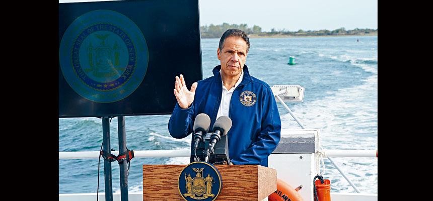 柯謨警告,新冠病毒在全國繼續蔓延,紐約人需要保持警惕。州長辦公室Flickr圖片