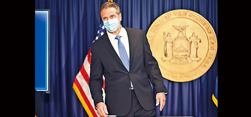 柯謨強調,地方政府要加大執法力度,以盡快控制疫情。州長辦公室Flickr圖片