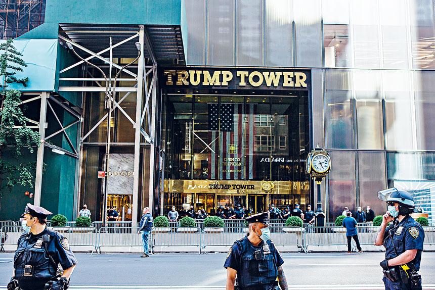 被告討論的襲擊目標包括紐約證券交易所和特朗普大廈(圖)。Gabriela Bhaskar/紐約時報