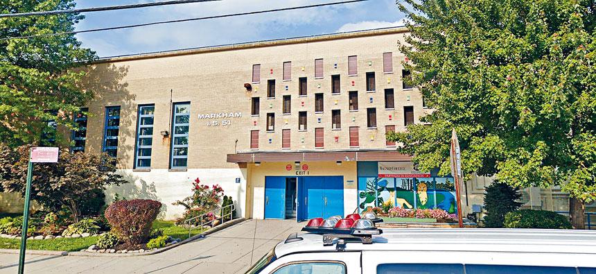 史丹頓島IS 151學校有1名老師確診感染,導致全校約50位員工隔離。谷歌地圖