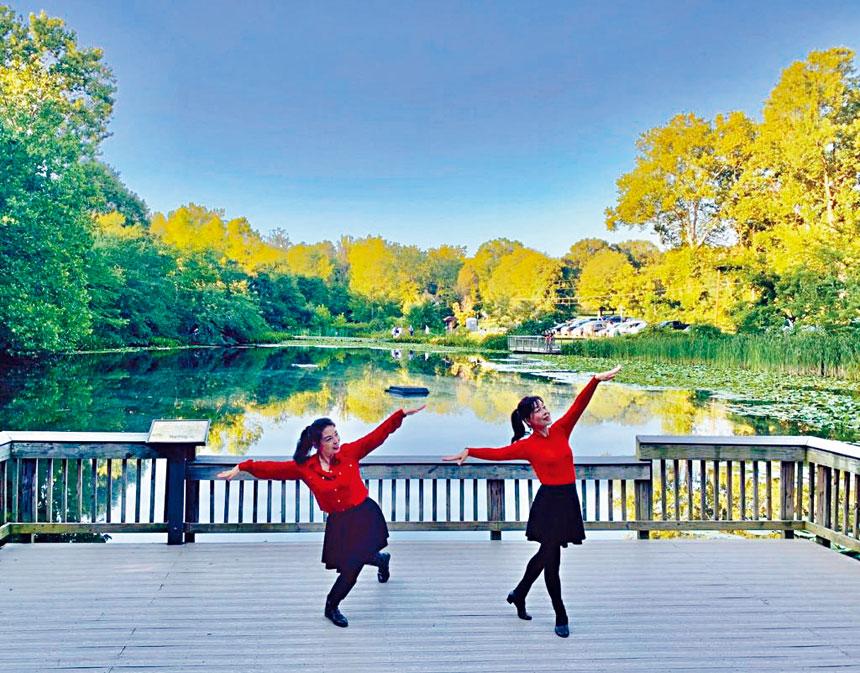 女子雙人舞《鴻雁》。