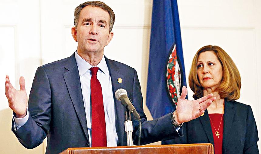 維吉尼亞州州長夫婦。照片源自互聯網