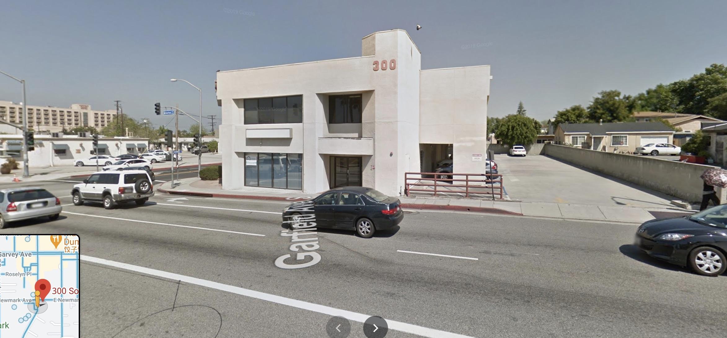 South Garfield Avenue 300棟附近發生槍擊案,搶手已經被逮捕。google街景圖