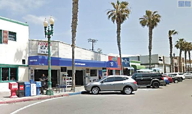 聖地牙哥Pacific Beach酒吧店經理被拒戴口罩的顧客打斷鼻樑。谷歌地圖街景