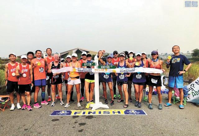 橙縣波馬虛擬賽吸引各族裔馬拉松選手參賽。受訪者提供