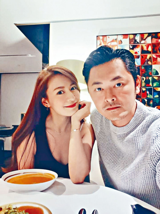 江伊晴與老公蕭唯展開心慶生。