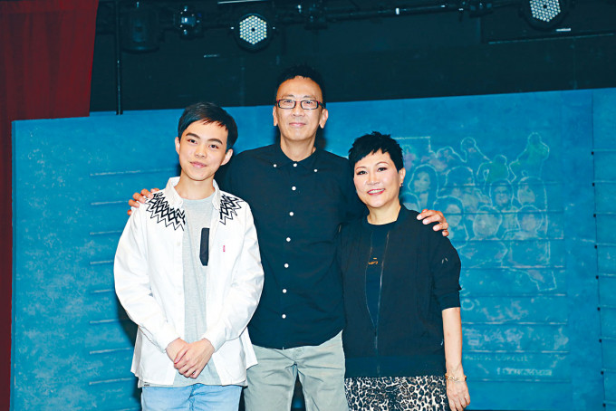 導演陳恩碩、鄭丹瑞及陳潔靈齊出席記者會。