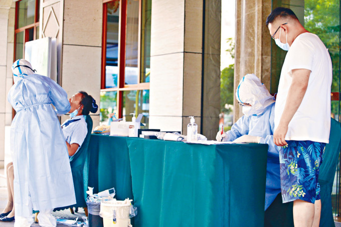 雲南瑞麗市展開為期三天的全城病毒檢測。