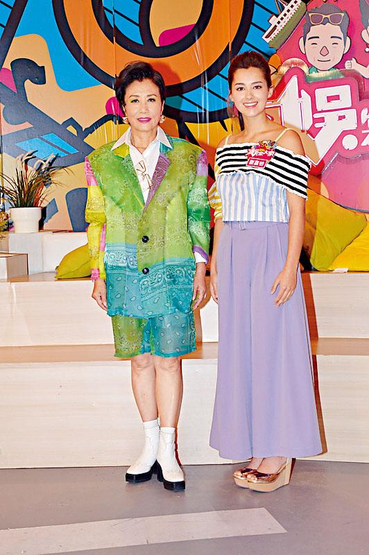 謝嘉怡與汪阿姐等齊為最後一集《娛樂大家》錄影。