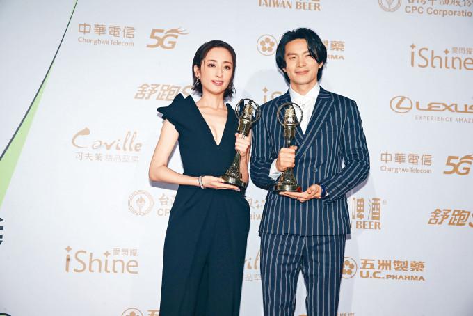 金鐘視帝視后由姚淳耀、柯佳嬿奪得,兩人演技有目共睹。