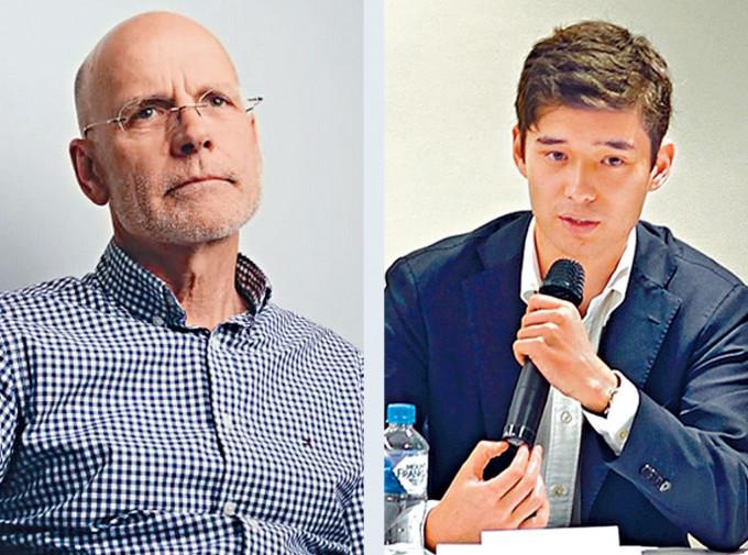 澳洲學者漢密爾頓(左)及周安瀾(右)被中國禁止入境。