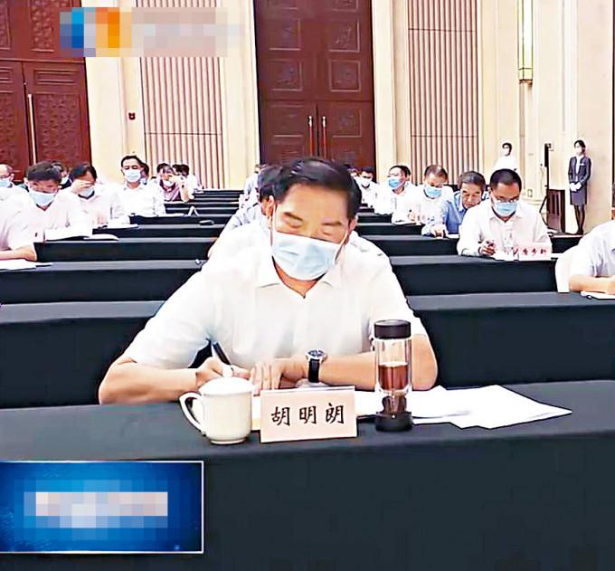 胡明朗已赴重慶任職。