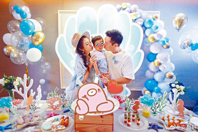 有老公、囝囝和腹中胎兒陪過生日,安以軒坦言好幸福。