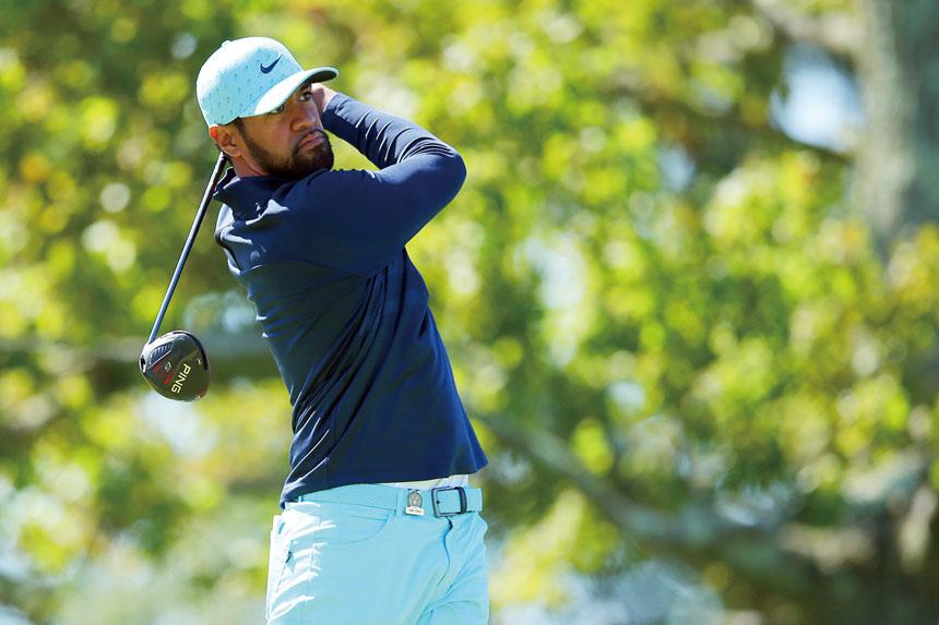 圖為弗諾在今年美國公開賽高爾夫錦標賽的最後一輪中,從第二個發球區出手。資料圖片