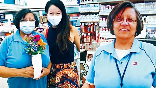 58歲的休斯頓藥房收銀員伯恩斯,即使戶口存款不多,仍主動替忘記帶錢包的顧客蓮娜.劉結賬,事跡在網上傳開後引起網民熱烈讚賞。網上圖片