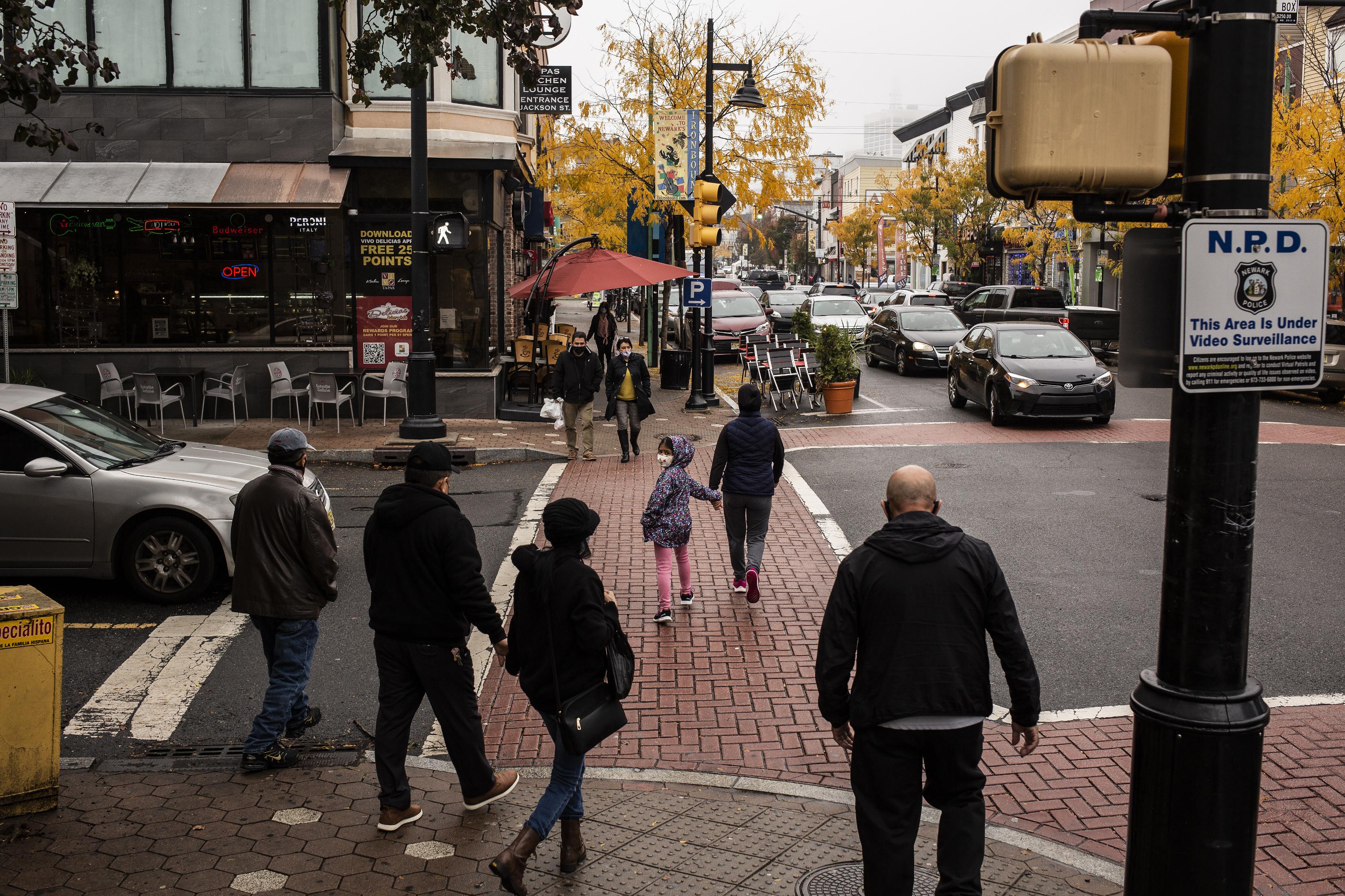 ■紐瓦克目前正實施新一輪封鎖限制措施。 Bryan Anselm/紐約時報