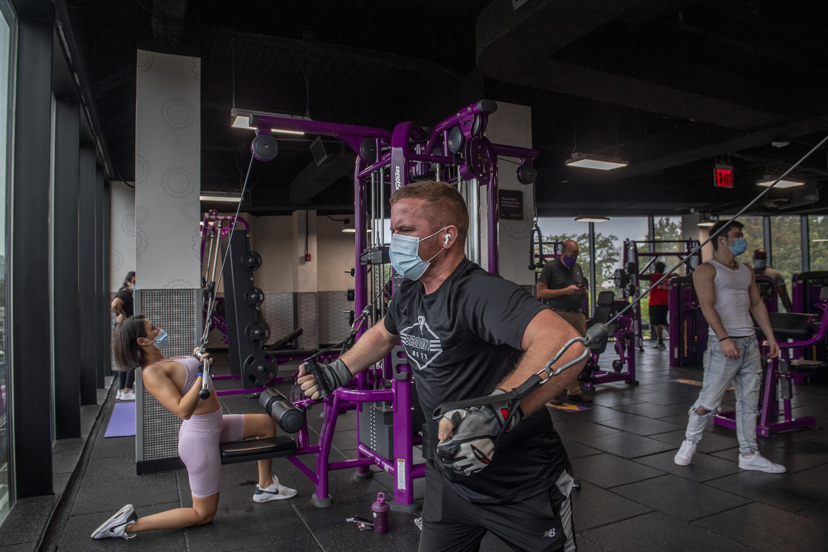 ■健身中心獲准於9月重開,但需要遵守衛生 指引。 Brittainy Newman/紐約時報