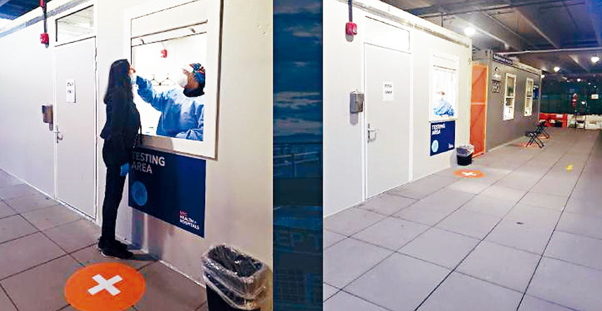 拉瓜迪亞機場的檢測點。