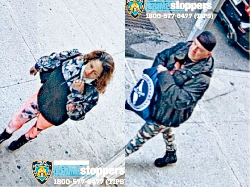 圖為涉案男女。NYPD