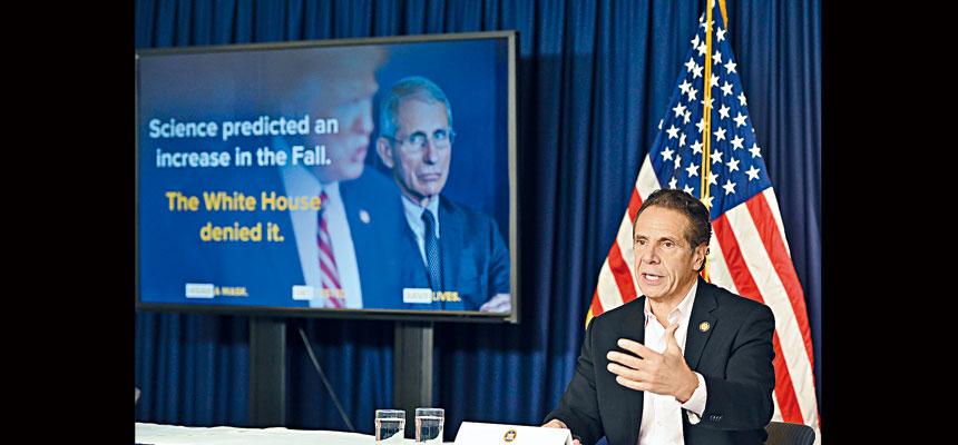 柯謨強調,三州需要合作抗擊新冠疫情。州長辦公室Flickr圖片