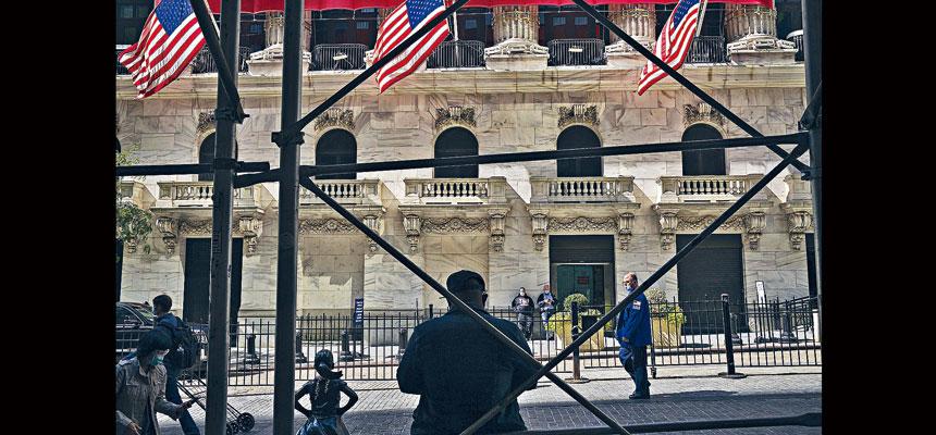 華爾街證券業的收入「疫市」中造好。John Taggart/紐約時報