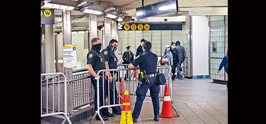 大都會捷運局發言人表示,對地鐵犯罪率高企的問題感到擔憂。Gregg Vigliotti/紐約時報