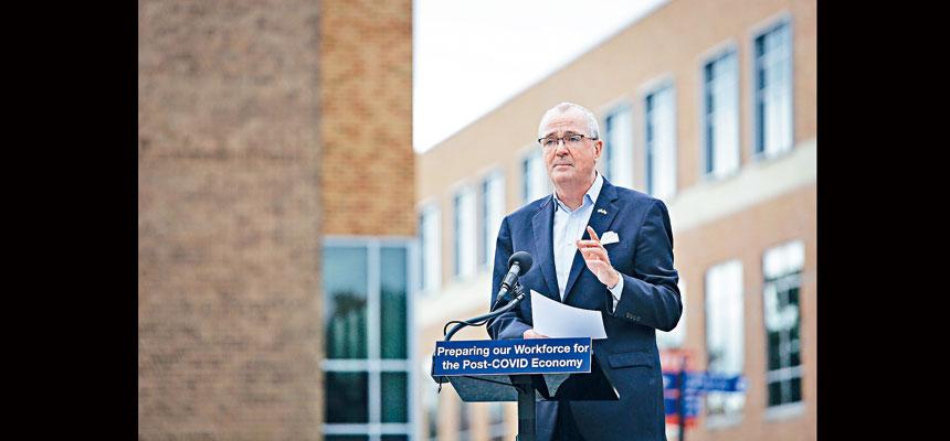 墨菲提出嚴厲警告,稱第二波新冠疫情威脅「正在發生」。 州長辦公室Flickr圖片