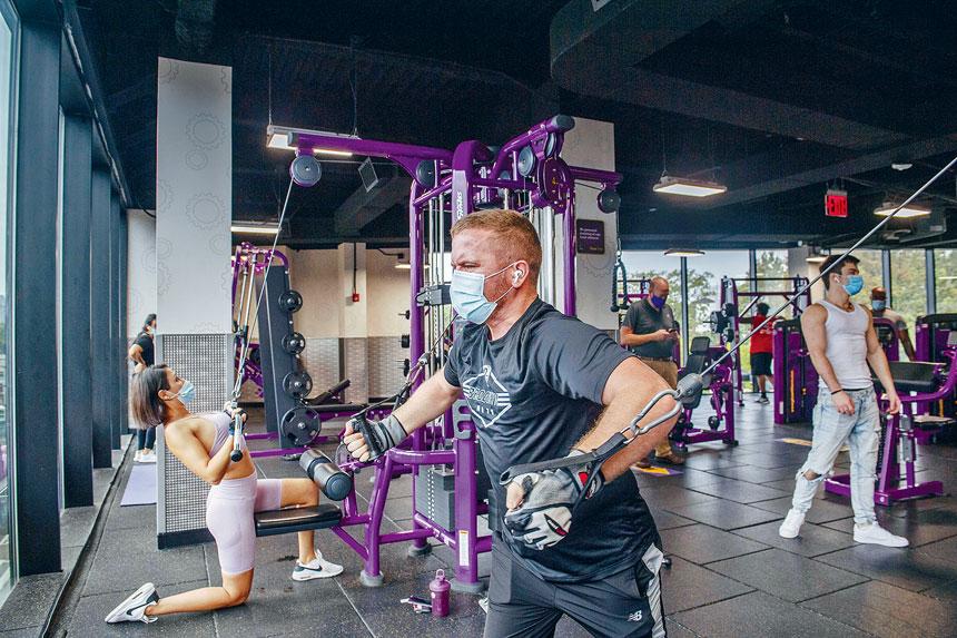 健身中心獲准於9月重開,但需要遵守衛生指引。Brittainy Newman/紐約時報
