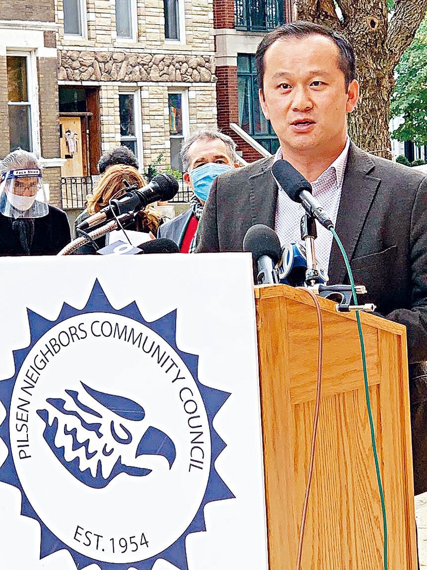 華諮處總裁劉國華稱,將盡全力協助華社的僑胞。梁敏育攝
