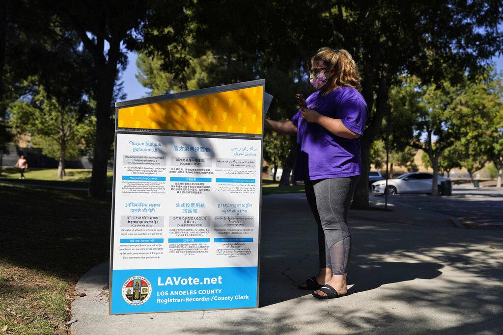 目前洛縣已經有超過66萬張選票寄回。美聯社