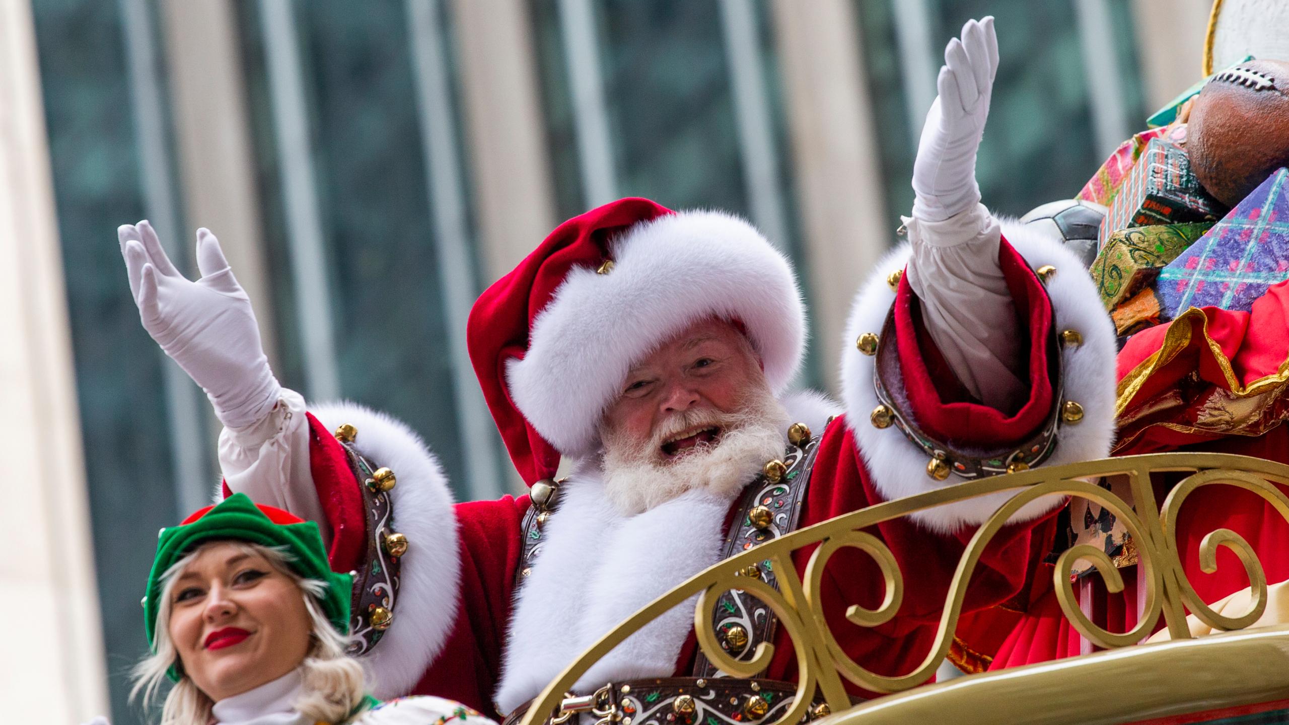 梅西百貨門口聖誕老人今年將改為網上體驗。(圖片來自網絡)