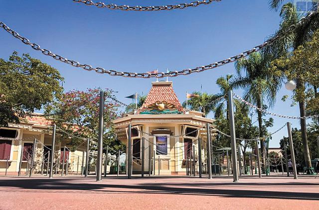 南加州安那罕迪士尼樂園自3月起關閉至今。洛杉磯時報