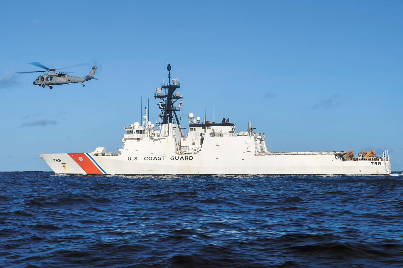 美國海岸警衛隊將於西太平洋,部署新一代快速反應巡防艦執行海上安全任務。資料圖片