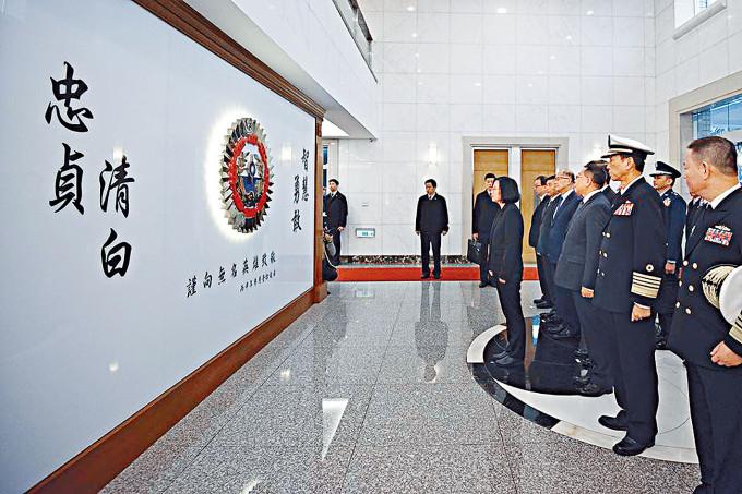 台灣軍情局內設立的無名英雄紀念碑,勉勵情報人員「清白忠貞」。