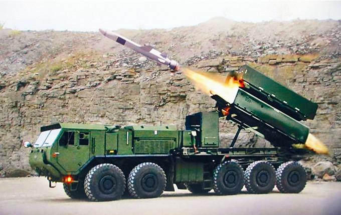 美國出售給台灣的「魚叉」反艦導彈。