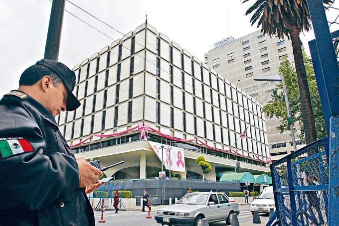 墨西哥城的美國大使館。